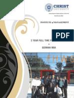 German MBA brochure