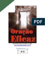 Oração Eficaz - Charles Haddon Spurgeon
