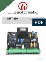 Manual Tarjeta electronica OMT-290 de Oneautomatic