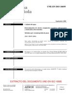 EXT UNE-EN ISO 10695-2000 ( Determinación de ciertos compuestos orgánicos nitrogenados y fosforados)