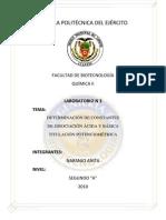 DETERMINACION DE CONSTANTES