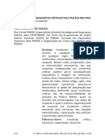 A RESOLUÇÃO DE INCIDENTES CRÍTICOS PELA POLÍCIA MILITAR