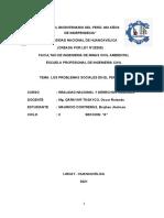 Los Problemas Sociales en El Perú Trabajo Monografico