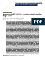 Assessments Of herbicides resistant weeds In Metahara Sugar Estate