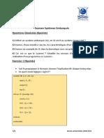 Examen Systèmes Embarques