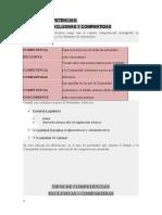 TIPOS DE COMPETENCIAS ENTRE ESTADO Y CCAA