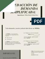 Redacción de Demanda Simplificada