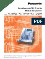 PanasonicKX-TDA30 100 200 Manual