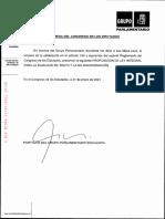 Propuesta de ley para la igualdad de trato y la no discriminación registrada por el PSOE en el Congreso