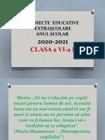 Activitati Nonformale PENTRU CLASA a VI a , 2020