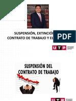 SUSPENSIÓN, EXTINCIÓN DEL CONTRATO DE TRABAJO Y EL DESPIDO