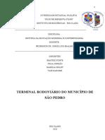 Iconografia - Terminal Rodoviário do município de São Pedro