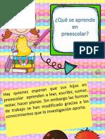 Perfil de egreso de la Educacion Preescolar