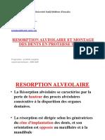 REsorption Et Montage Des Dents en Prothese Complete