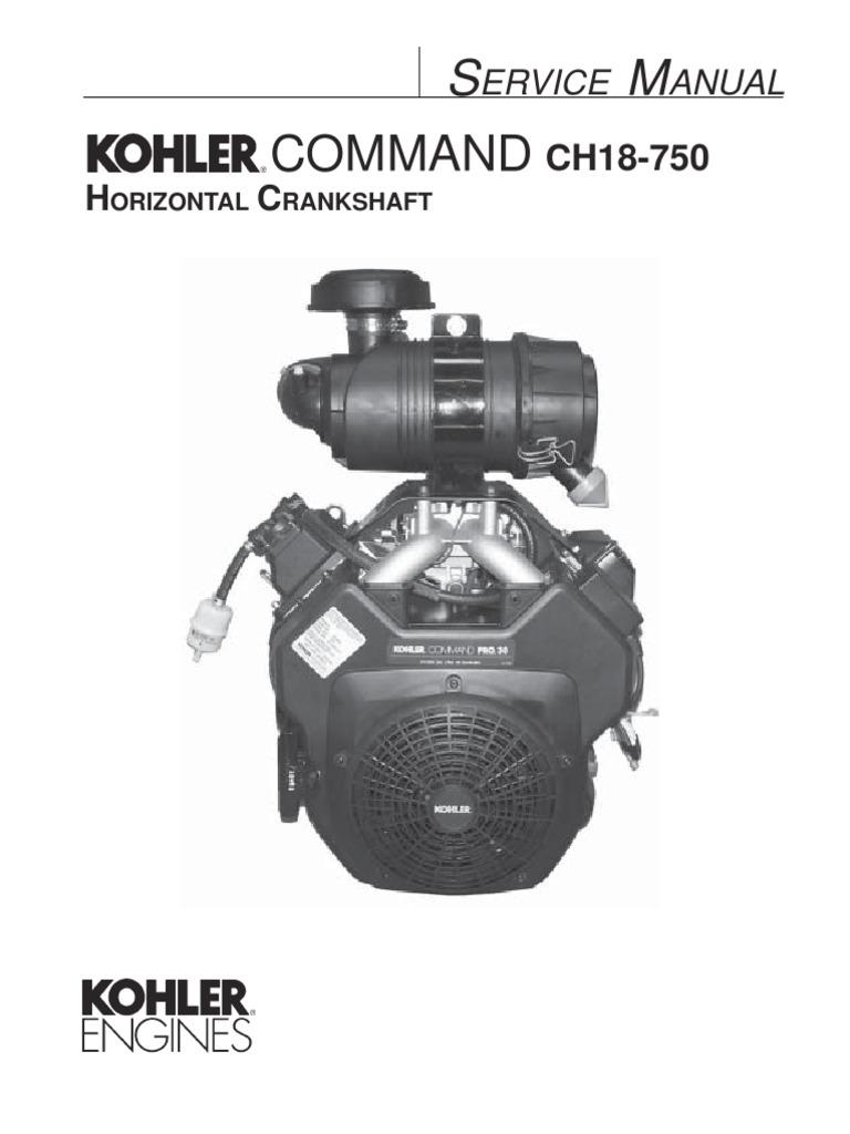 ch20s service manual gasoline motor oil rh scribd com Kohler Lawn Mower Engines Kohler Engine Parts Catalog