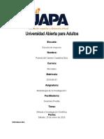 Tarae 2 de Metodologia de La Investigacion I.