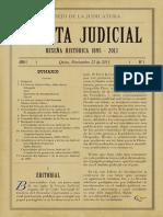 Gaceta Judicial Num 01