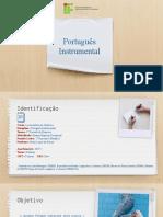 Plano de Disciplina - Português Instrumental