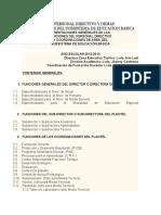 FUNCIONES DEL PERSONAL DIRECTIVO Y DEMAS COORDINADORES DEL SUBSISTEMA DE EDUCACION BASICA