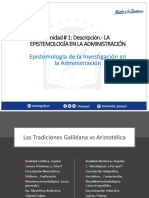 Epistemologia en La Administracion - Unidad 1