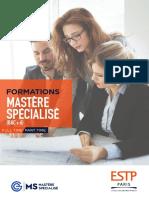 ESTP Paris_plaquette_7 Mastère Spécialisé_2020-2021