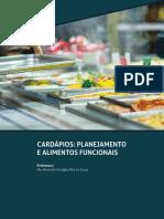 Elaboração de Cardápios Funcionais e Gastronomia Fit - Unidade 2