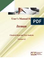 Iteman 4.1 Manual