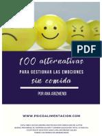 100 alternativas COMIDA  - PSICOLOGIA DE LA ALIMENTACION