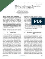 Examination of School Mathematics Observation Protocol on Activities (MOPA)