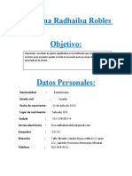 CV Ana Radhailsa Robles Lora
