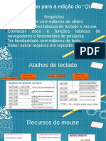 Slide tutorial para professores