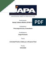 Actividad Practica Valida por el Examen Final de Psicologia Social y Comunitaria