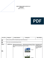 Weekly Home Learning Plan (Sample Template) (Recovered)