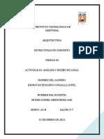 ACTIVIDAD 3. ANÁLISIS Y DISEÑO DE LOSAS. JHONATAN COSGALLA