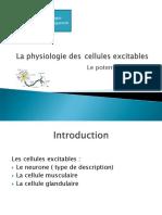 INFLUX NERVEUX 1 CELLULES EXCITABLES