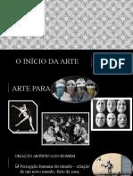 UNIDADE 1 -O INÍCIO DA ARTE
