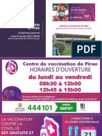 Ouverture Du Centre de Vaccination de Pirae Le 25-01-2021 - Crèche Municipale