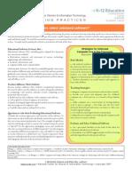 Selecting K-12 Ed Software