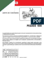 Pegaso 650 Uso e Manutenzione Italian - 1995