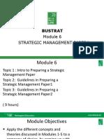 3 Bustrat Module 6 Strategic Management Paper 3