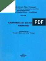Altorientalische und semitische Onomastik