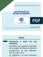 DEFINICION DEL ESTADO DE DERECHO