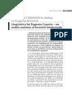 Lingvistica lui Eugeniu Coseriu un mobil continuu al formarii intelectuale