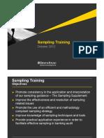 FSO Training 2012 - Audit Sampling