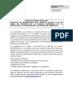 Consulta pública del Ministerio de Sanidad