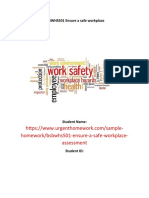 BSBWHS501 Ensure a safe workplace