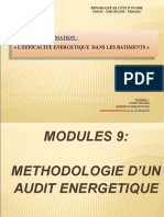 Module 9. METHODOLOGIE D'UN AUDIT ENERGETIQUE