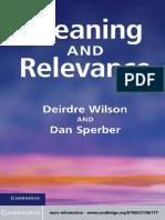 Deirdre Wilson, Dan Sperber - Meaning and Relevance-Cambridge University Press (2012)