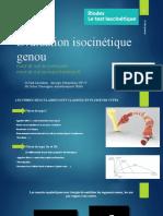 Test Isocinetique Du Genou Final