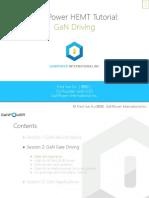 GaN Power Device Tutorial Part2 GaN Driving